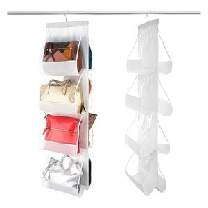 White Clear Handbag Hanging Closet Organizer NIP